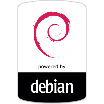 Powered by debian